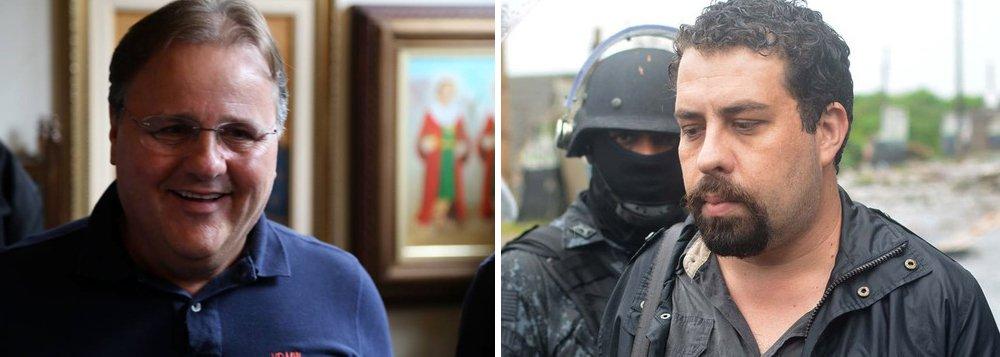 """""""Ninguém se iluda: na medida em que os conflitos sociais se agudizarem, na conjuntura de devastação econômica criada pela política Meirelles-Temer, a repressão vai se acentuar"""", avisa a colunista do 247 Tereza Cruvinel sobre a prisão do coordenador do MTST, Gulherme Boulos; contra líder social, lembra Tereza, foi invocada pela polícia de Geraldo Alckmin a aplicação da teoria do domínio do fato, a mesma que permitiu a condenação de José Dirceu pelo STF; """"Já o ex-ministro Geddel Vieira Lima, apesar de provas e evidências acumuladas de envolvimento em delitos, não foi preso, embora muitos outros, por muito menos, tenho sido levados para o xadrez de Curitiba"""", afirma"""