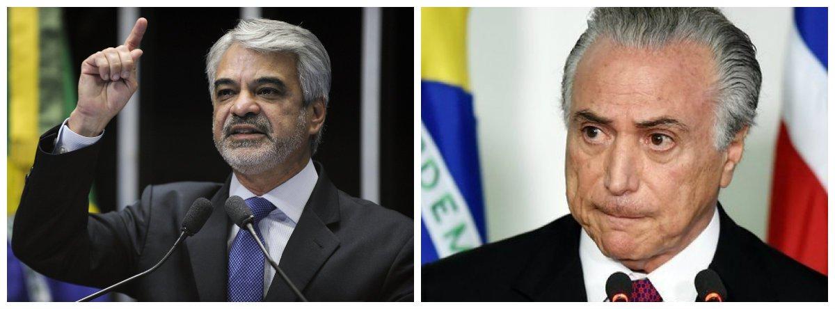 Senador Humberto Costa (PT) e Michel Temer