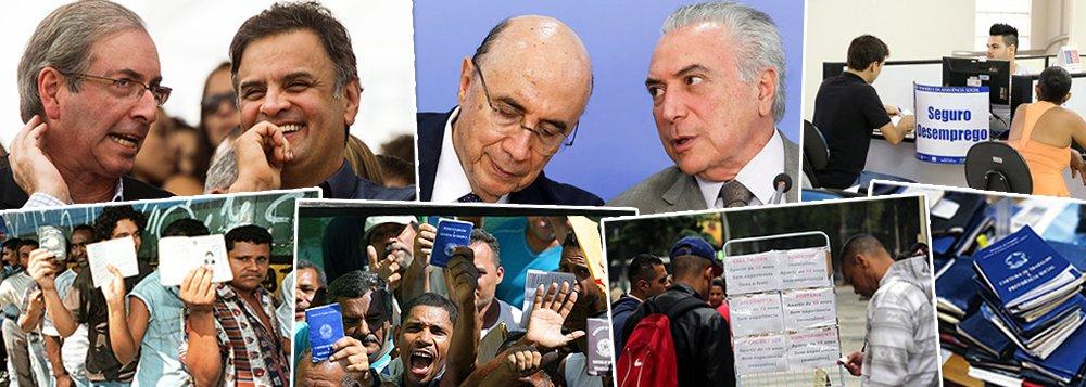 """Deposta pelo golpe de 2016, a presidente Dilma Rousseff entregou uma taxa de desemprego de 4,8% em dezembro de 2014, quando seu governo efetivamente terminou; em 2015, quando Aécio Neves e Eduardo Cunha começaram a governar o Brasil com a política do """"quanto pior, melhor"""", colocada em prática para viabilizar o impeachment, a taxa começou a disparar; em 2016, os responsáveis pela tragédia são Michel Temer e Henrique Meirelles, que estão no poder há 230 dias, mas dizem, em anúncios publicitários, que governam há apenas 120 dias; reveja reportagem da Globo sobre o pleno emprego que havia com Dilma ao fim de 2014"""