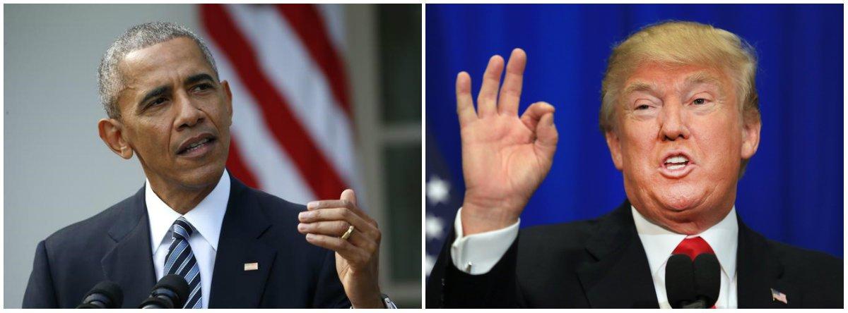"""""""Estamos todos torcendo agora para seu sucesso em unir e liderar o país"""", disse o presidente dos Estados Unidos,pedindo que os democratas deixem de lado sua decepção após a vitória do republicano Donald Trump; """"Farei tudo que eu puder para ajudar"""", declarou"""