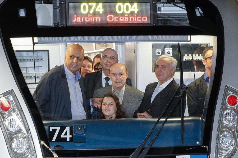 """Em auditoria """"de dimensões inéditas"""", iniciada em julho, o Tribunal de Contas do Rio de Janeiro constatou ocorrência de irregularidades e superfaturamento nas obras da Linha 4 Sul do Metrô do Rio, que pode ter provocado danos de R$ 2,4 bilhões aos cofres públicos;""""O ex-governador Sérgio Cabral e o atual, Luiz Fernando Pezão, terão que justificar uma série de termos aditivos assinados entre o estado e as empresas"""", diz o TCE em nota; entre as construtoras envolvidas nas obras da Linha 4 está a Odebrecht"""
