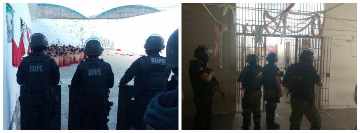 Operação do Batalhão de Operações Policiais Especiais (Bope) e do Grupo de Remoção e Intervenção Tática (Gerit) apreendeu chips, celulares, espetos, um fone de ouvido, maconha e cachimbos utilizados para drogas no Presídio Cyridião Durval, em Maceió; embora a PM diga que a operação foi de rotina, ação também foi motivada pelos acontecimentos no Complexo Penitenciário Anísio Jobim (Compaj), em Manaus, que deixou 60 mortos
