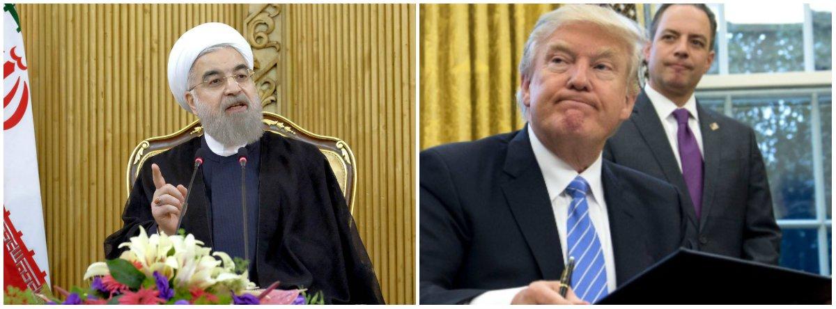 """Em resposta ao decreto do presidente dos EUA, Donald Trump, de proibir por 90 dias a entrada de pessoas provenientes de países de maioria muçulmana, o Irã anunciou que aplicará o princípio de reciprocidade aos Estados Unidos; segundo autoridades iranianas, a medida estará em vigor até que o governo norte-americano suspenda a proibição para os cidadãos iranianos; em comunicado, o Ministério das Relações Exteriores do Irã classificou a decisão de Trump como """"insulto flagrante aos muçulmanos do mundo"""" e considerou que o decreto estimula """"a propagação da violência e do extremismo"""""""