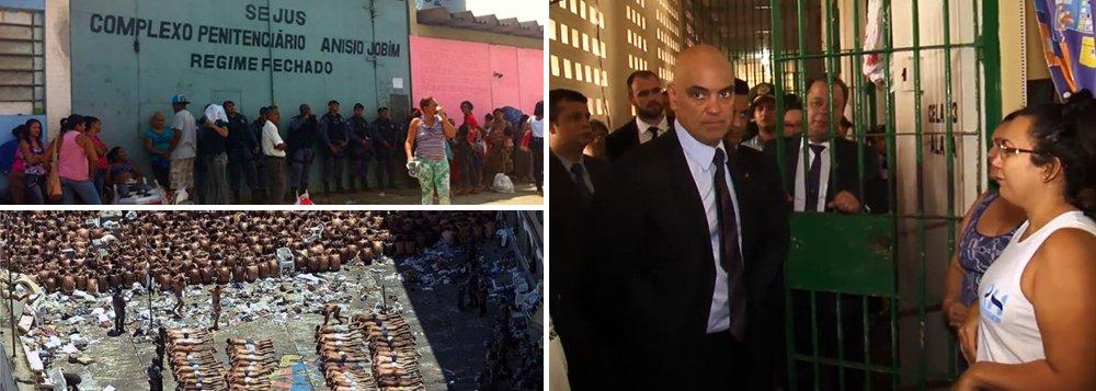 """O massacre dos presos no Amazonas poderia ter sido evitado; por meio de escutas telefônicas, a Polícia Federal sabia há mais de um ano da intenção da facção criminosa Família do Norte (FDN) de matar """"todos os membros"""" do grupo paulista PCC em presídios de Manaus; as informações constam em um relatório da instituição; mesmo documento foi usado como base para a Operação La Muralla, em novembro de 2015, quando foram cumpridos 127 mandados de prisão; apesar do documento, o ministro da Justiça, Alexandre de Moraes,responsável pela PF, admitiu apenas que o governo do Amazonas tinha conhecimento de um plano de fuga dos presos; enquanto isso, Michel Temer segue em silêncio sobre o assunto."""