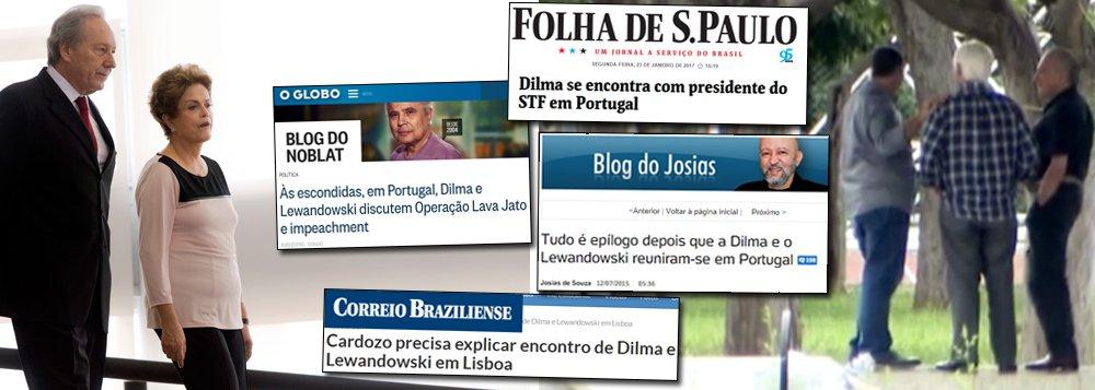 """O encontro de """"velhos amigos"""" nos jardins do Jaburu entre Gilmar Mendes e Michel Temer, um juiz e um investigado, serviu para comprovar o duplo padrão de julgamento da imprensa brasileira; antes do golpe parlamentar de 2016, essa mesma imprensa se escandalizou quando a presidente Dilma Rousseff se encontrou com Ricardo Lewandowski em Portugal para tratar do reajuste do Judiciário; a gritaria foi intensa e o então ministro José Eduardo Cardozo foi chamado a prestar explicações; agora, com o encontro entre Temer e Gilmar ocorre poucos dias após a morte de Teori Zavascki, que estava prestes a homologar as delações da Odebrecht, que atingem o Palácio do Planalto e vários de seus ministros, a imprensa se cala; assista vídeo do canal Notícias Comentadas"""