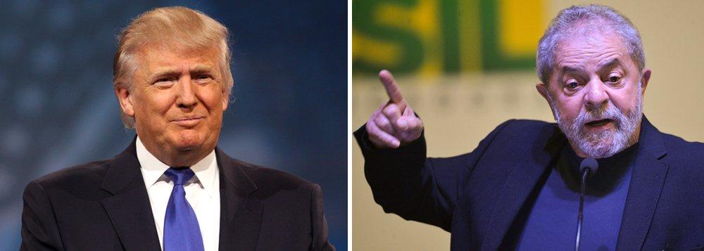"""O presidente eleito dos Estados Unidos, Donald Trump, elogiou medidas do governo de Luiz Inácio Lula Silva em uma entrevista concedida em 2004, quando o petista estava na Presidência do Brasil; """"Lula está realizando um trabalho admirável, da melhor qualidade. Estou muito otimista com relação ao seu governo"""", avaliou o republicano em entrevista à Folha de S.Paulo quando o reality show """"O Aprendiz"""", que comandava, estava prestes a estrear na tv norte-americana"""