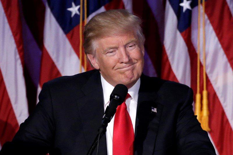 Presidente eleito dos EUA, Donald Trump, em evento eleitoral em Nova York, Estados Unidos 09/11/2016 REUTERS/Mike Segar