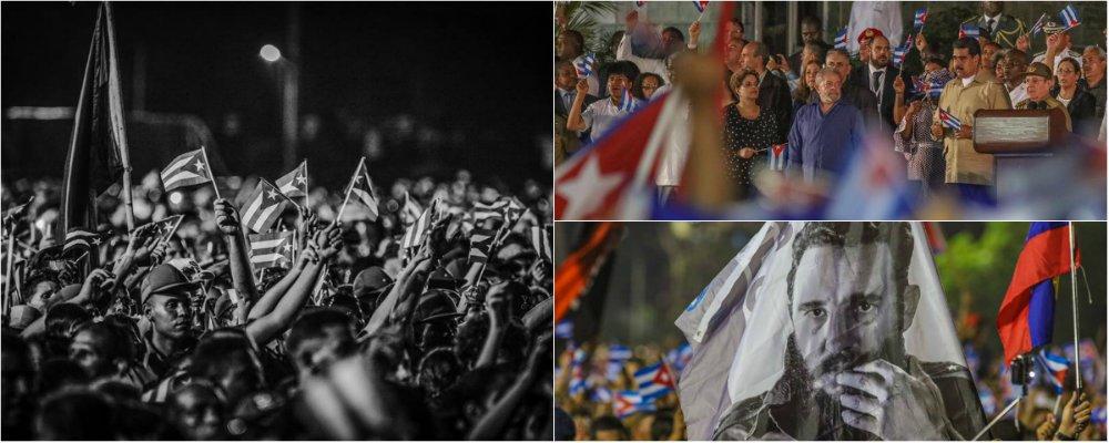 Após despedida de nove dias que mobilizou Cuba, Fidel Castro foi enterrado na manhã deste domingo (4) no cemitério Santa Ifigênia, em Santiago, no leste do país; as cinzas de Fidel, que governou por 49 anos após implantar o comunismo em Cuba, foram depositadas ao lado do mausoléu do herói nacional de Cuba, Jose Martí (1853-95); a cerimônia de enterro, de acesso restrito, não foi transmitida pela TV estatal cubana; o ato teve a presença de vários convidados internacionais, entre os quais os ex-presidentes Luiz Inácio Lula da Silva e Dilma Rousseff e o mandatário venezuelano, Nicolás Maduro; os três foram abraçados por Raúl ao final do discurso; confira fotos das homenagens
