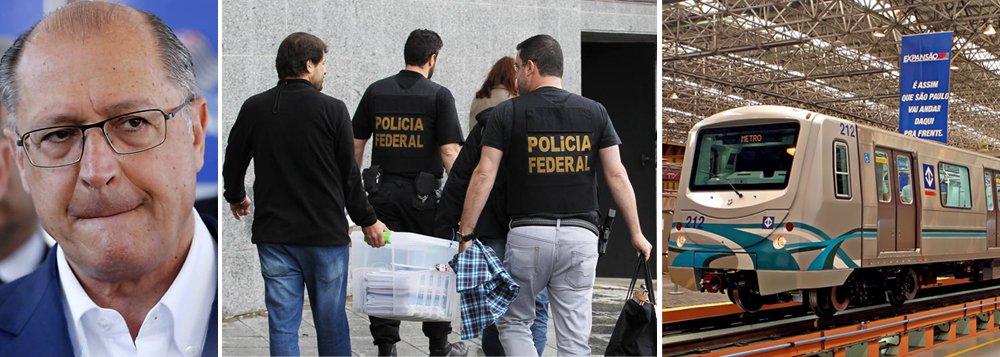 """Além das obras nos estádios da Copa, também deverão ser investigados outros esquemas de desvios, como os do metrô de São Paulo; nas delações da Odebrecht, o governador Geraldo Alckmin é apontado como o """"santo"""""""