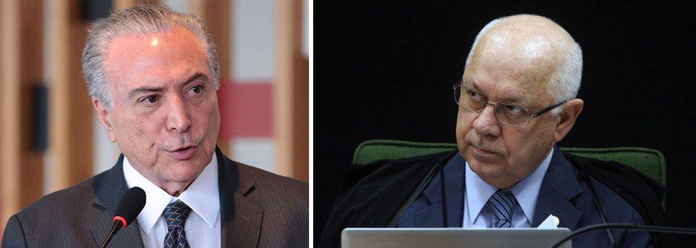 """Em um rápido pronunciamento no Palácio do Planalto, no início da noite desta quinta-feira 19, Michel Temer decreto luto oficial de três dias pela morte do ministro Teori Zavascki, do STF, e disse que o magistrado era um """"homem de bem"""" e um """"orgulho para todos os brasileiros"""""""