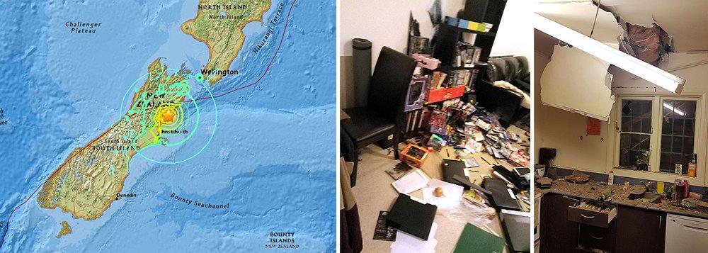 Tremor de magnitude 7,4 atingiu a região central da Nova Zelândia logo após a meia-noite pelo horário local (9:02 deste domingo pelo horário de Brasília), disse o Serviço Geológico dos Estados Unidos; Defesa Civil da Nova Zelândia emitiu um alerta de tsunami, aconselhando moradores na costa leste de South Island a buscar abrigo em áreas mais altas