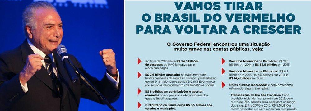 """""""O Brasil """"voltou a ser um bom negócio"""" porque o país está controlado por barraqueiros de feira na hora da xepa, vergado, destruído, arruinado, pedinte. Regido – porque se comportam mesmo como rei pela usurpação – por um bando, como dizia o velho Brizola, de vendilhões da pátria. Repito o que já disse: a propaganda do Temer é a cara do Temer. Um evidente mau negócio para o Brasil""""; confira a análise de Fernando Brito, do Tijolaço"""
