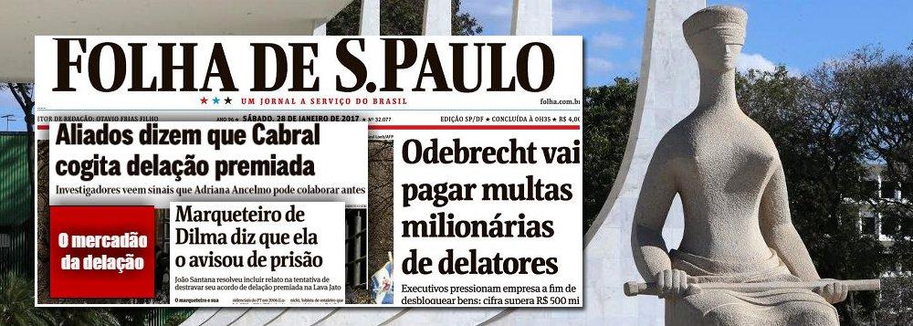 """Ao mencionar o caso do marqueteiro João Santana, que tenta implicar a presidente deposta Dilma Rousseff para fechar acordo com o Ministério público Federal, o jornalista Fernando Brito, do Tijolaço, critica o vale-tudo de envolvidos na operação Lava Jato para negociar acordos de delação premiada; para ele, há um """"mercado sujo que se criou nas delações, onde interessa escapar com menos responsabilidade, menos pena e mais dinheiro"""""""