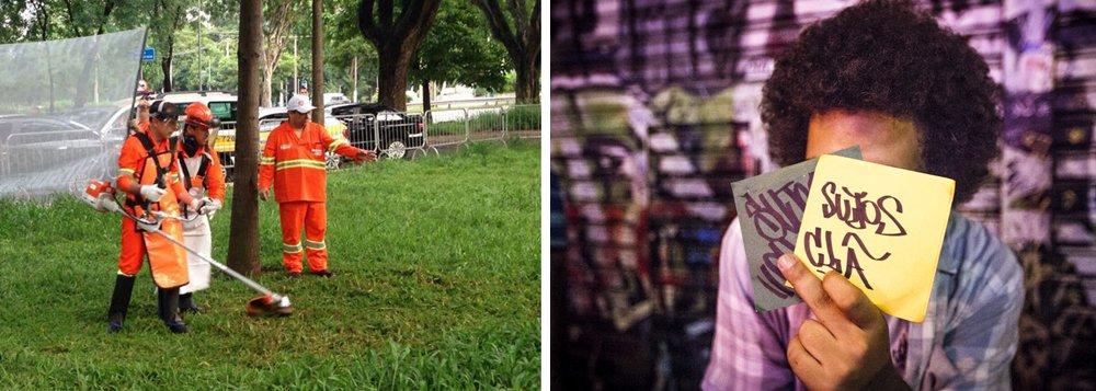 Vestido de jardineiro, o prefeito de São Paulo, João Doria (PSDB), participou de uma ação de limpeza urbana na região da Luz; tucano firmou um acordo com o Sindicato dos Taxistas de São Paulo para que eles denunciem pichadores; Doria afirmou que os trechos onde grafites foram apagados na Avenida 23 de Maio vão receber um jardim vertical e que está ampliando os mecanismos de combate aos pichadores; além do trabalho de taxistas, Guarda Civil e polícias Civil e Militar, a gestão Doria quer aprovar uma multa de R$ 5 mil para quem for pego pichando; veja vídeo