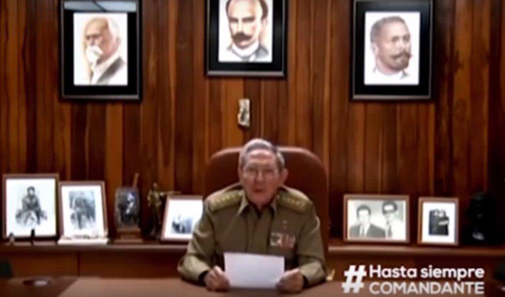 Presidente de Cuba anunciou morte do líder da Revolução Cubana na noite de sexta-feira, 25, madrugada de sábado, 26 no Brasil; assista ao vídeo e leia íntegra do comunicado