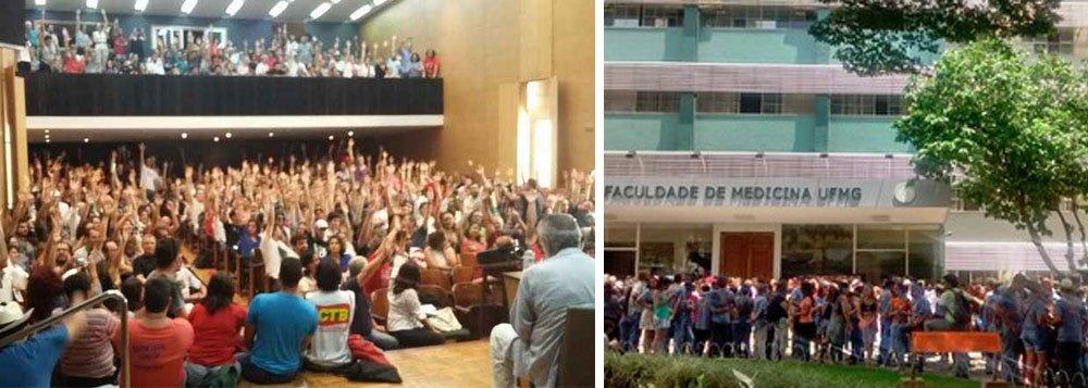 Em assembleia na Faculdade de Medicina da Universidade Federal de Minas Gerais (UFMG), a maioria dos 453 professores presentes aprovou nesta sexta-feira, 11, a greve a partir do próximo dia 16 contra a aprovação da Proposta de Emenda à Constituição (PEC) 55, que congela investimentos da União por 20 anos