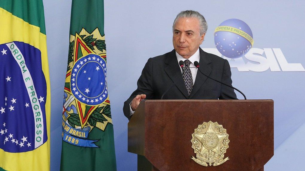 (Brasília - DF, 29/12/2016) Presidente Michel Temer durante pronunciamento á imprensa no Palácio do Planalto. Foto: Alan Santos/PR
