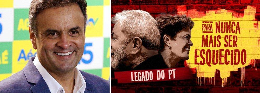 """Após inviabilizar a governabilidade do país para em seguida apoiar o impeachment da presidente eleita Dilma Rousseff, o PSDB, partido presidido pelo senador e ex-candidato à Presidência da República, Aécio Neves (MG), lançou uma espécie de jogo da memória online para criticar o PT, que segundo os tucanos"""", """"faz mal para o país""""; segundo o texto do game, """"o governo petista foi marcado por escândalos de corrupção e incompetência"""" e cita """"legados"""" como o rombo de R$ 300 bilhões nas contas públicas, 12 milhões de desempregados, cinco mil obras paradas em todo o País; game vem na esteira do crescimento de Lula nas pesquisas de intenção de voto para as eleições presidenciais de 2018"""