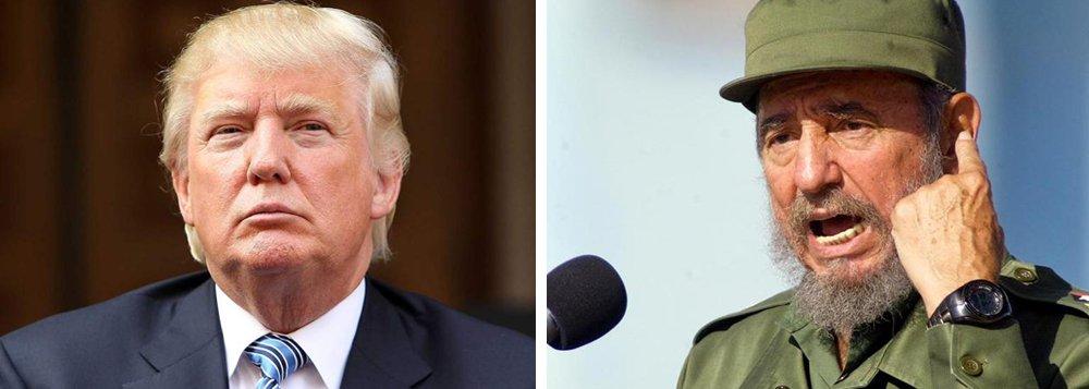 """O presidente eleito dos Estados Unidos, Donald Trump, comentou a morte do líder cubano, chamando Fidel Castro de """"um ditador brutal que oprimiu seu próprio povo por quase seis décadas"""";""""O legado de Fidel Castro é de pelotões de fuzilamento, roubo, sofrimento inimaginável, pobreza e negação de direitos humanos fundamentais"""", afirmou Trump, em comunicado; na campanha presidencial, Trump ameaçou reverter as ações do presidente Barack Obama de abertura de relações com Cuba; o vice-presidente eleito, Mike Pence, escreveu no Twitter: """"O tirano Castro está morto"""""""