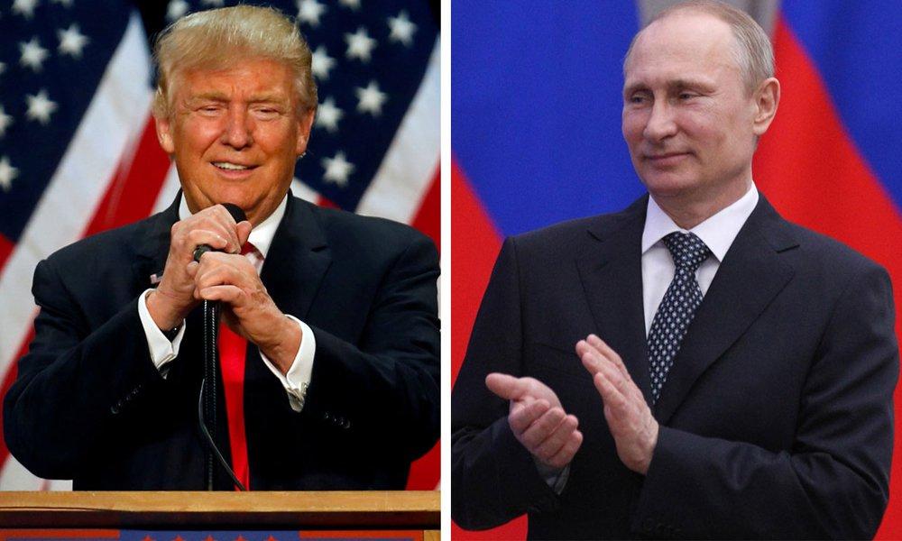 """O presidente-eleito dos Estados Unidos, Donald Trump, elogiou nesta sexta-feira a """"demora"""" do presidente russo Vladimir Putin, aparentemente referindo-se à recusa de Putin em retaliar os EUA pela expulsão de 35 russos por suposto envolvimento em ataques cibernéticos a grupos políticos antes da eleição presidencial de 8 de novembro; """"Grande atitude com a demora (de Putin) - Eu sempre soube que ele era muito esperto"""", disse Trump no Twitter"""