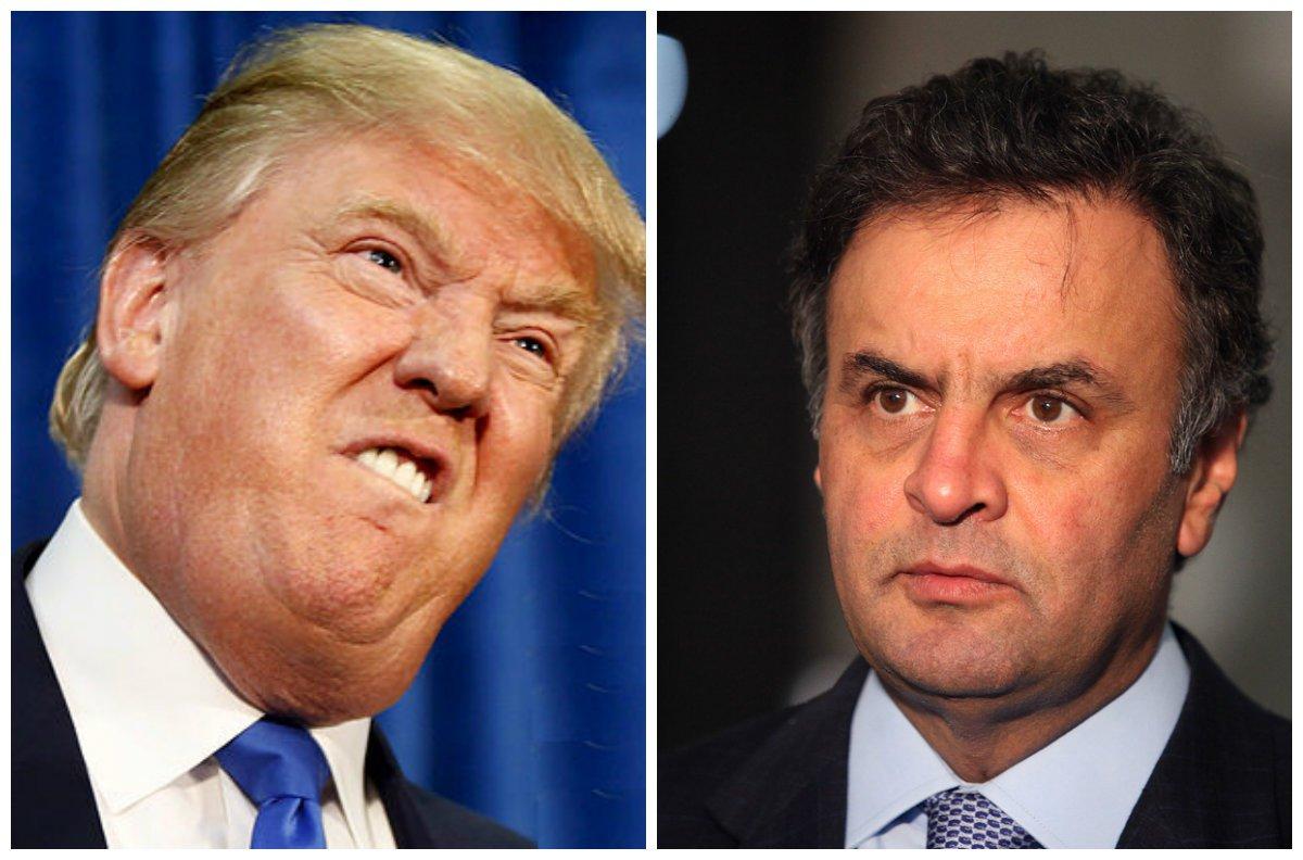 O Brasil exportou sua tecnologia de golpes parlamentares para os Estados Unidos; apoiadores de Donald Trump já dizem que votar em Hillary Clinton será um desperdício porque se ela ganhar não a deixarão governar e a derrubarão do poder; pelo jeito, senador Aécio Neves (PSDB-MG) fez escola