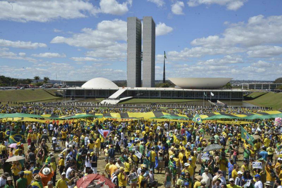Manifestação em Brasília em prol da Lava Jato
