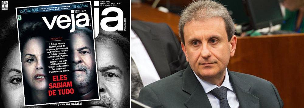 """Fernando Brito diz que o depoimento em que o doleiro Alberto Youssef inocenta o ex-presidente Lula de qualquer participação em irregularidades """"deveria levar alguém à cadeia""""; """"Ou a ele, de volta à cana, ou aos editores de Veja que publicaram aquela criminosa capa-panfleto com a imagem do ex-presidente e de Dilma Roussef e , em letras garrafais: 'eles sabiam de tudo'"""""""