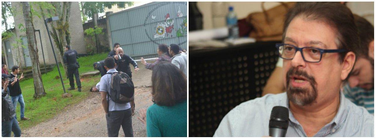 """Jornalista, filho do sociólogo que leva o nome da escola ligada ao MST, invadida na última sexta-feira de forma violenta pela polícia civil de São Paulo, diz que ação é """"inadmissível"""" e que foi ordenada por um """"Estado policial que retoma os tristes tempos da ditadura militar"""""""