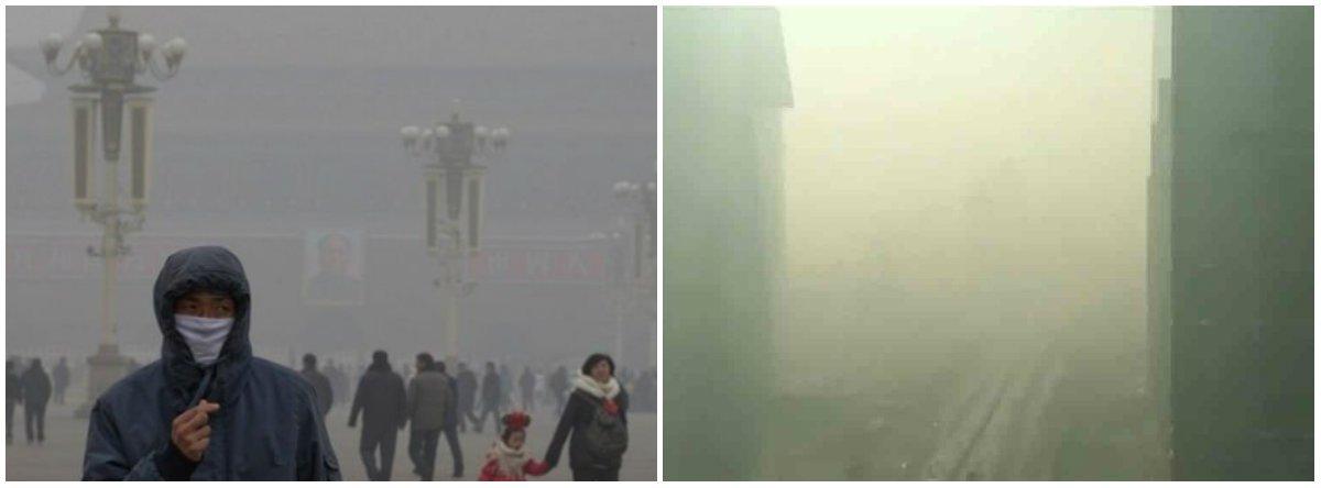 O ano de 2017 começa com Pequim e dezenas de outras cidades no centro e no norte da China com níveis altíssimos de poluição no ar e mais de 300 voos atrasados ou cancelados no país por esse motivo