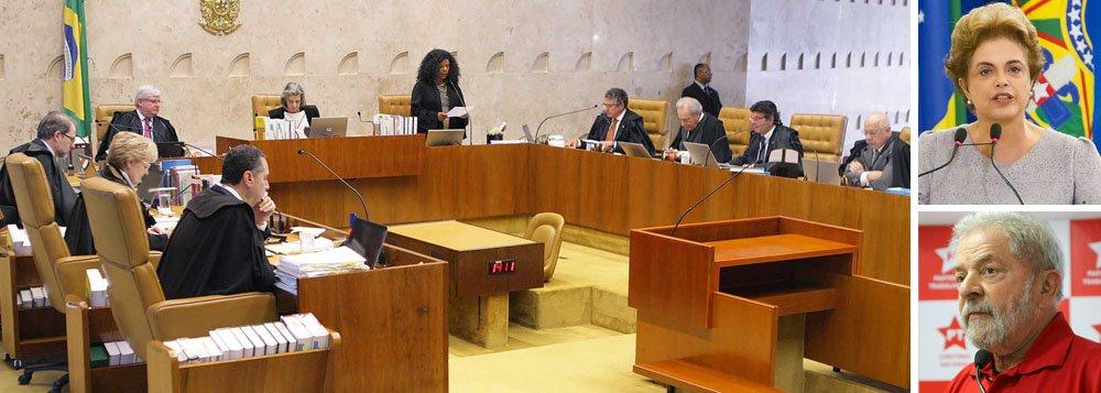 """O colunista do 247 Emir Sader critica a participação do Supremo Tribunal Federal no golpe que derrubou a presidente Dilma Rousseff sem que houvesse comprovação de crime; """"Com seu silêncio, sacramentou sua responsabilidade com a ruptura da democracia no Brasil, da qual deveria ser o zelador"""", afirma; ele cita a decisão que impediu Lula, """"sem ser réu de qualquer processo"""", de assumir a Casa Civil no governo Dilma, """"mas permite que 15 ministros do governo Temer façam isso""""; """"Um STF como esse tornou-se uma vergonha para a democracia brasileira. Desonra a função que deveria ter de guardião da Constituição, violada semanalmente pelo governo golpista e por seu Congresso corrupto. Degrada a função do Judiciário"""""""