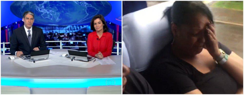 """O Jornal Nacional, da TV Globo, se tornou alvo de críticas nas redes sociais após a exibição de uma reportagem na noite deste sábado (3) na qual entrevista familiares das vítimas do acidente com o avião da Chapecoense dentro de um ônibus, a caminho do aeroporto --onde receberiam os corpos--, e depois em direção ao velório, no estádio; a reportagem de quase seis minutos, feita pela repórter Kíria Meurer, da RBS TV, afiliada da Globo em Santa Catarina, com o seu próprio celular, foi classificada de""""desnecessária"""", """"invasiva"""" e """"sensacionalista"""""""