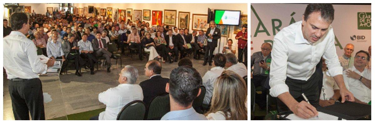 O Programa de Logística e Estradas do Ceará foi lançado na manhã desta sexta-feira (25) pelo governador Camilo Santana, no Palácio da Abolição. A iniciativa integrará todas as obras de infraestrutura rodoviária do Estado, desde 2015, representando um investimento da ordem de R$ 1,9 bilhãopara restauração, pavimentação e duplicação de cerca de2.063,31 km de estradas.Entre as obras autorizadas nesta sexta-feira estão a duplicação da CE-040, que impulsionará o turismo do Litoral Leste e facilitará o acesso ao Aeroporto de Aracati e a CE-155, voltada para atender o fluxo da produção do Porto do Pecém