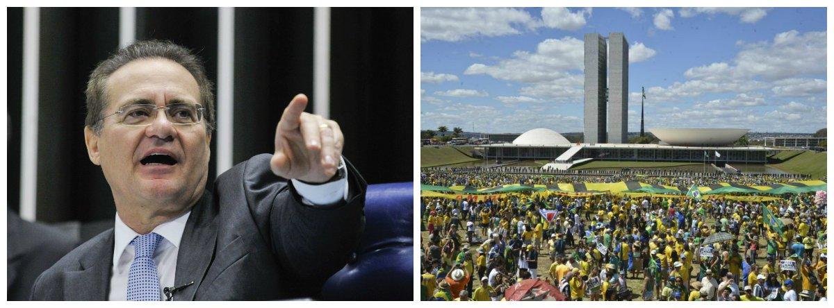 Renan Calheiros, Senado, protestos .2