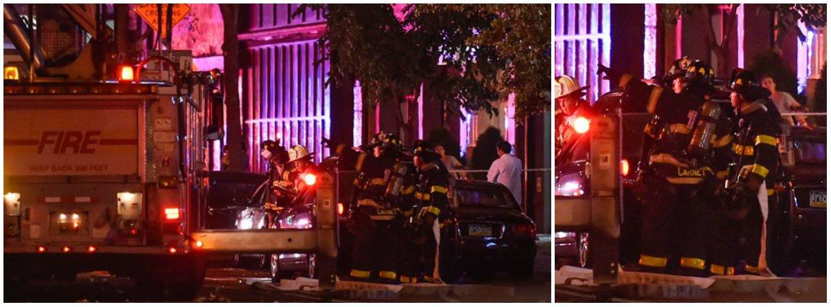 """O governador de Nova York, Andrew Cuomo, informou que bomba que explodiu em Nova York,ferindo 29 pessoas foi um ato de terrorismo que, aparentemente, não tem conexões internacionais; """"Vamos descobrir quem colocou estas bombas e eles serão levados à Justiça"""", disse;""""Mas a explosão de uma bomba é genericamente uma atividade terrorista. É assim que vamos considerá-la"""""""