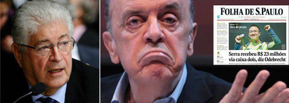"""Senador Roberto Requião (PMDB-PR) não poupou os tucanos ao criticar a seletividade da mídia nos casos de corrupção envolvendo o governo Michel Temer (PMDB); """"Geddel acusado de interferir em espigão sai, o outro acusado de receber US$ 23 mi fica?"""", fuzilou o parlamentar ao referir-se à queda do ministro Geddel Vieira Lima (Secretaria de Governo) e a permanência """"intacta"""" do ministro do PSDB José Serra (Relações Exteriores), mesmo acusado de ser beneficiado por propina de R$ 23 milhões da Odebrecht"""