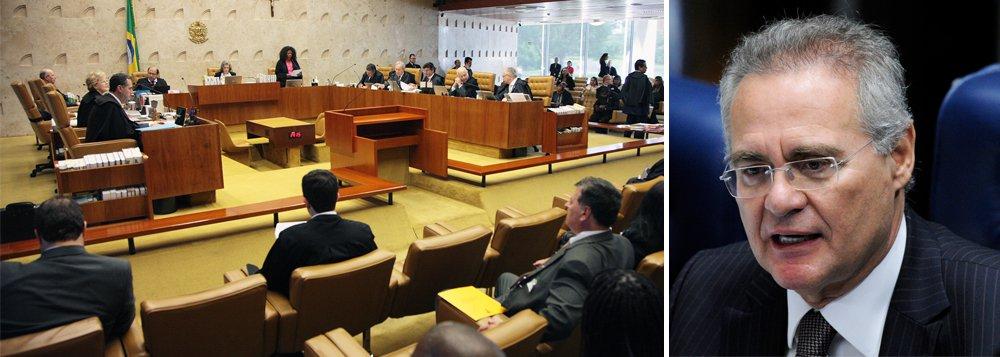 Em votação nesta quinta-feira, 1º, a maioria dos ministros dos Supremo Tribunal Federal votou pelo recebimento da denúncia apresentada pela Procuradoria-Geral da República (PGR), em 2013, contra o presidente do Senado, Renan Calheiros (PMDB-AL); votaram a favor de Renan virar réu pelo crime de peculato os ministrosEdson Fachin (relator do inquérito), Luis Roberto Barroso, Teori Zavascki, Rosa Weber, Luiz Fux, Marco Aurélio Mello, Celso de Mello e a presidente, Cármen Lúcia; os ministros Dias Toffoli, Ricardo Lewandowski e Gilmar Mendes rejeitaram a denúncia por completo; assista ao vivo