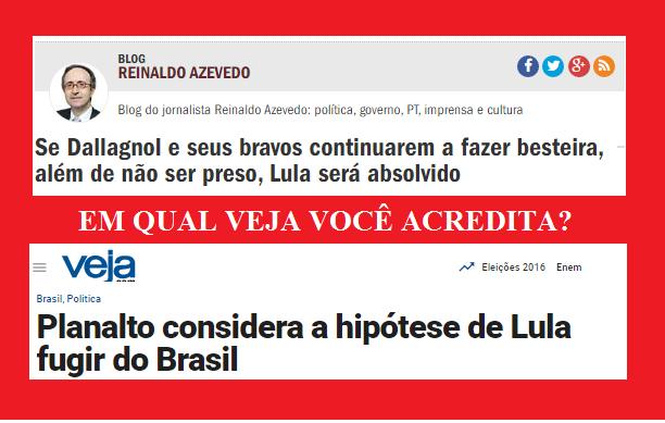 Essa matéria nada mais é do que material requentado. A primeira tentativa da Veja de criar argumentos para a Lava Jato prender Lula foi em março deste ano