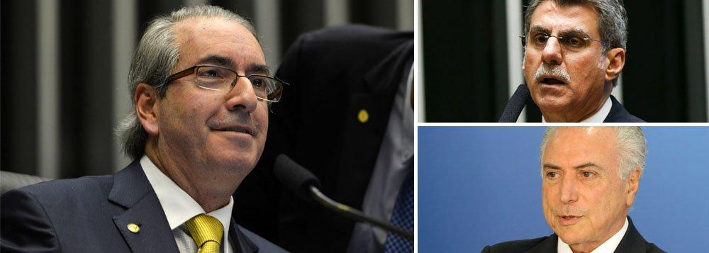 """""""Nesta quarta-feira (12/10), faz exatamente um mês que a Câmara dos Deputados cassou o mandato de Eduardo Cunha (PMDB), o herói dos 'coxinhas', e auxiliar direto de Michel Temer"""", diz o deputado Paulo Pimenta (PT-RS); """"Sem foro privilegiado, a expectativa era de que Cunha não escaparia das mãos da Justiça, que se autoproclama a salvadora da pátria nestes tempos estranhos em que vivemos. Mas não foi o que aconteceu! Cunha vai bem, obrigado"""", afirma; """"O tempo mostra que Romero Jucá sabia muito bem o que dizia. De fato, o governo Temer conseguiu 'estancar a sangria' e proteger os corruptos"""""""