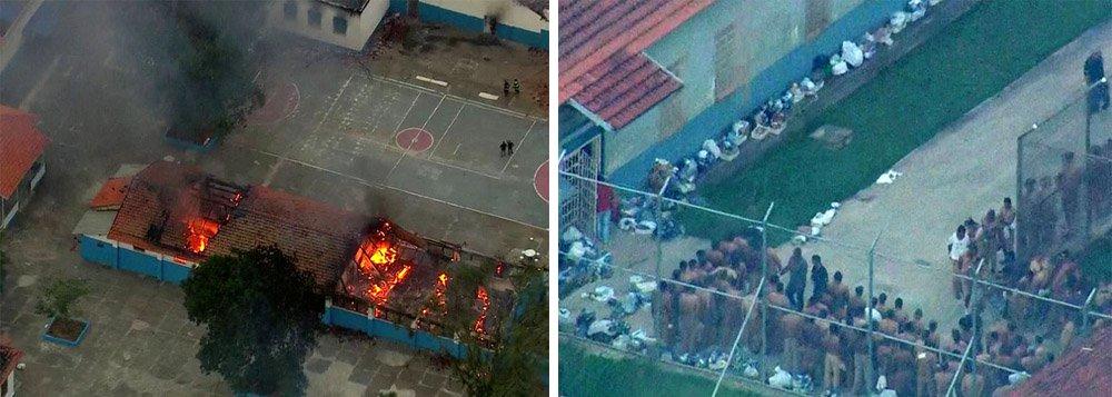 Detentos do Hospital de Custódia André Teixeira Lima, no município de Franco da Rocha, região metropolitana de São Paulo, fizeram nesta segunda-feira 17 um motim e alguns conseguiram fugir; número de fugitivos pode chegar a 300;os presos incendiaram pelo menos três pavilhões; a unidadeé destinado ao tratamento psiquiátrico de detentos