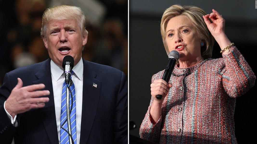 O republicano Donald Trump e a democrata Hillary Clinton entraram nos últimos três dias de campanha com eventos concorrentes na Flórida neste sábado, estado que pode ser decisivo na eleição presidencial de terça-feira nos EUA; Hillary e Trump apresentam seus argumentos finais aos eleitores, cruzando o país na esperança de convencer os eleitores indecisos e entusiasmar suas bases; as pesquisas de opinião mostram que Hillary ainda tem vantagem em estados que podem ser críticos para decidir a eleição, mas sua liderança se estreitou após uma revelação feita há uma semana de que o FBI investiga mais e-mails de quando ela era secretária de Estado