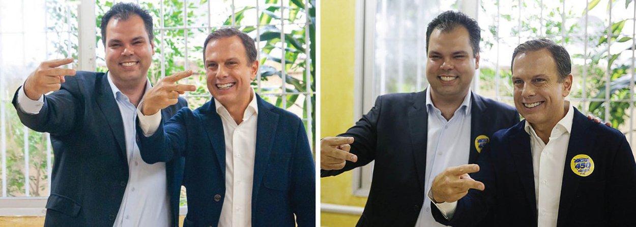 Deputado federal Bruno Covas será o vice da chapa do PSDB que terá João Doria Júnior como candidato à Prefeitura de São Paulo; avaliação dentro do partido é a de que um vice de dentro do PSDB servirá para pacificar o partido após uma conturbada prévia para a escolha do candidato, da qual Doria foi acusado de abuso de poder econômico; pré-candidato tucano anunciou a adesão do PTC, o 10º partido a compor a chapa da qual fazem parte também PSB, PMB, PHS, PV, PPS, PP, DEM, PRP e PTdoB, além do PSDB