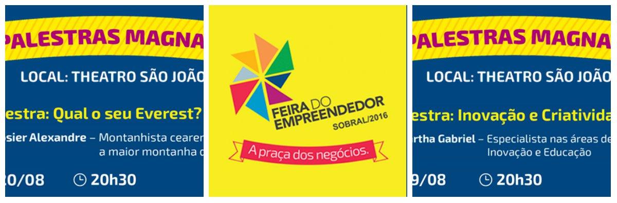O Sebrae reúne nesta sexta-feira (29), a partir das 9 horas, em sua sede da av. Monsenhor Tabosa, 777, lideranças e empresários do trade turístico e de instituições parceiras para apresentar o projeto e a programação da Feira do Empreendedor do Ceará 2016. Durante o encontro também acontecerá a solenidade de entrega do Booktruck, livraria itinerante de editoras cearenses, à Câmara Cearense do Livro