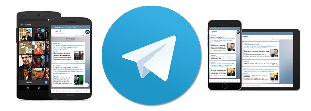 247 é o primeiro site de notícias a lançar um canal exclusivo de notícias no aplicativo de mensagens Telegram; com isso, os leitores receberão alertas exclusivos, e em primeira mão, no celular e no computador