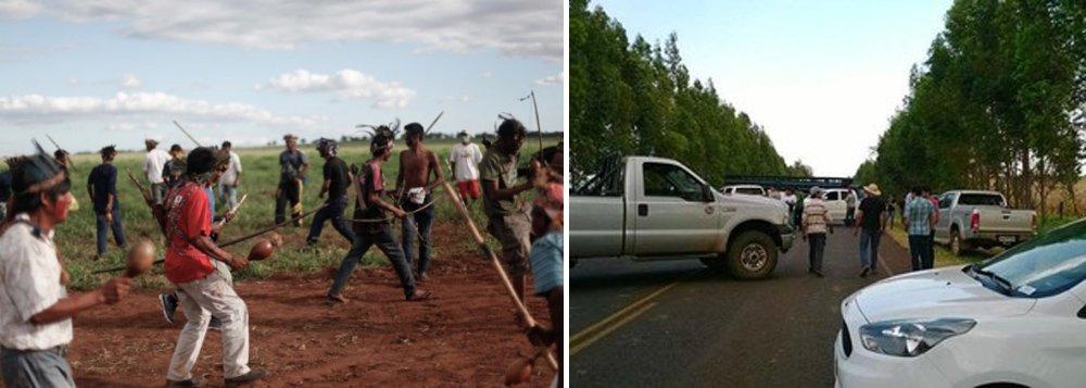 Cerca de 100 fazendeiros e pistoleiros do Mato Grosso do Sul, insatisfeitos com as propriedades ocupadas por índios que pedem a demarcação de suas terras na região, foram até o local em que o grupo acampava nessa terça-feira, 14, e chegaram atirando; um índio morreu e oito ficaram feridos, entre eles, um criança de 12 anos que levou um tiro no abdômen, passou por cirurgia e está internada em um hospital da região