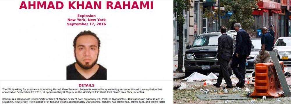 As autoridades norte-americanas informaram que estão à procura de Ahmad Khan Rahami, 28 anos, acusado de ser o responsável por ter deixado uma bomba no bairro de Chelsea, em Nova York, no último sábado 17; a explosão deixou 29 pessoas feridas