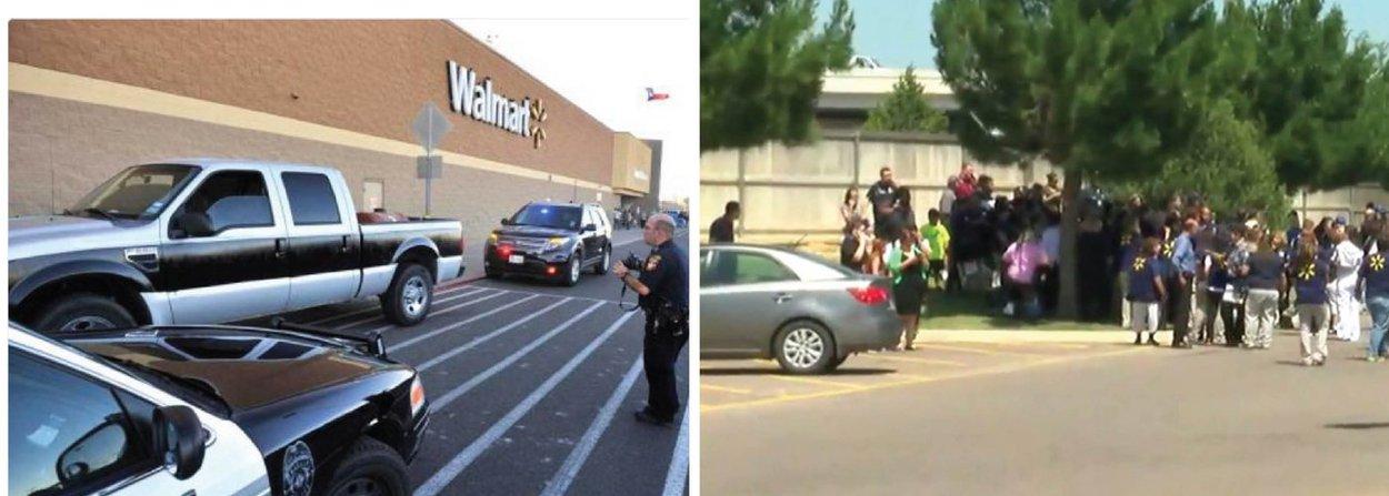 """Ex-funcionário dos supermercados Walmart tomou reféns em um estabelecimento da rede no estado do Texas, EUA; """"Todos os residentes são aconselhados a ficar longe dessa área. Há informações de que o sujeito está no interior e pode ter tomado reféns"""", disse a polícia do condado de Randall em um comunicado; tiros foram ouvidos no local, mas não há confirmações de mortos ou feridos por enquanto; segundo a mídia local, atirador for morto pela SWAT; caso acontece 48 horas após um tiroteio em uma boate gay da Florida ter deixado 49 mortos e 53 feridos"""