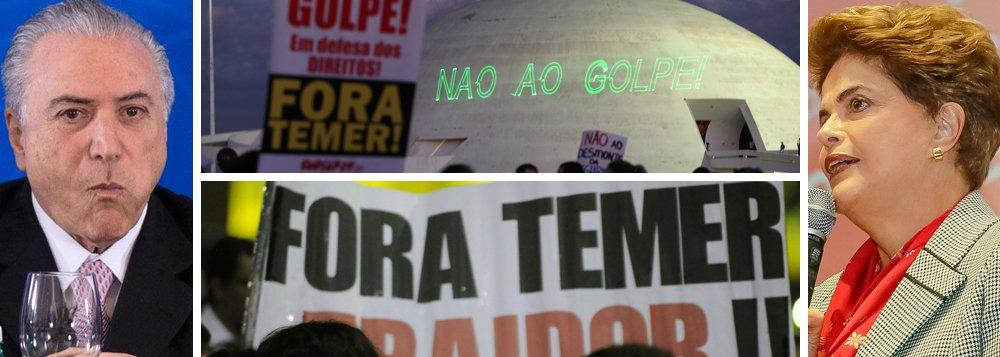 Levantamento do Instituto corrige erro do Datafolha e aponta que 62% são favoráveis a novas eleições; além disso, 11,1% querem que a presidente Dilma Rousseff volte e conclua seu mandato; os que querem a permanência de Michel Temer são apenas 23,8%, bem menos do que os 50% apontados pela Folha em sua pesquisa forjada; como a tese de novas eleições depende da volta de Dilma, que faria uma consulta popular sobre o tema, os senadores, se ouvirem a voz do povo, rejeitarão o impeachment