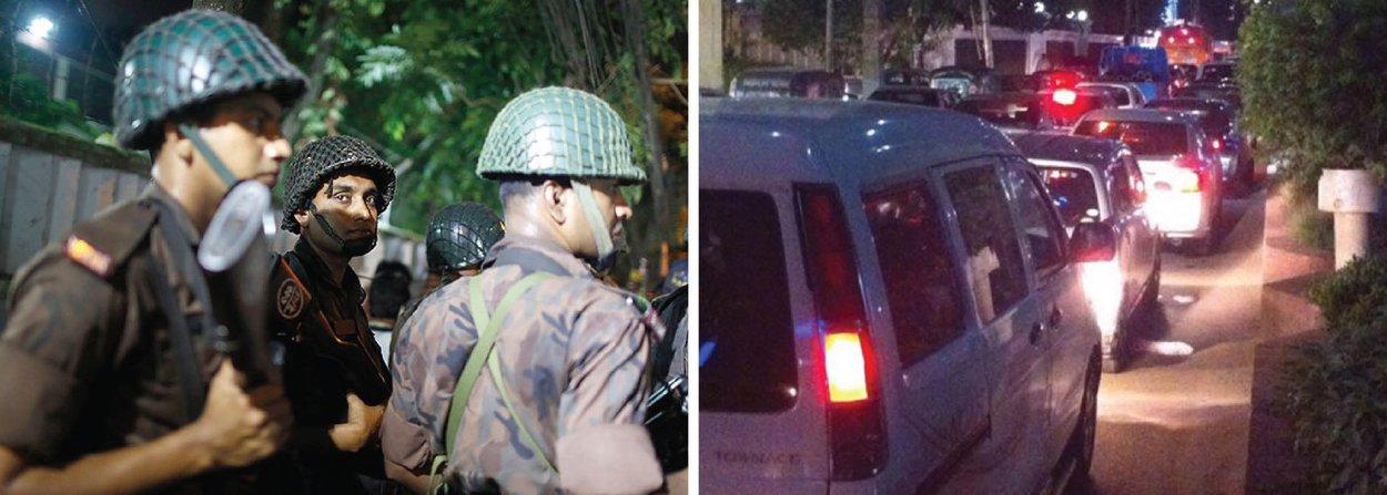Homens armados atacaram um restaurante popular entre estrangeiros no setor diplomático da capital de Bangladesh, Daca; segundo o Departamento de Estado dos Estados Unidos, foram feitos reféns durante o ataque; três policiais foram feridos por disparos que tiveram início quando a polícia cercou o restaurante Holey Artisa