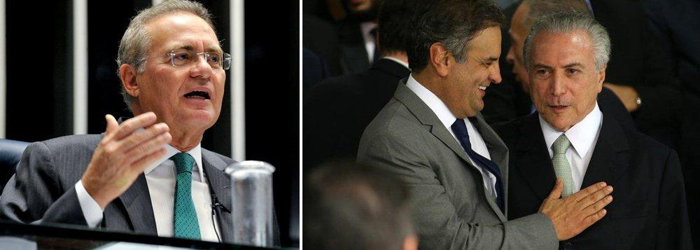 """""""Muito mais importantes que a troca de farpas com Eduardo Cunha – os dois não se cruzam há milênios – as declarações de Renan Calheiros sobre a 'pressa' no encaminhamento ao Congresso da 'reforma' da Previdência são um sinal da disputa de poder sobre Michel Temer, entre o presidente do Senado e os tucanos, apoiados por sua artilharia de mídia"""", escreve o jornalista Fernando Brito, do Tijolaço"""