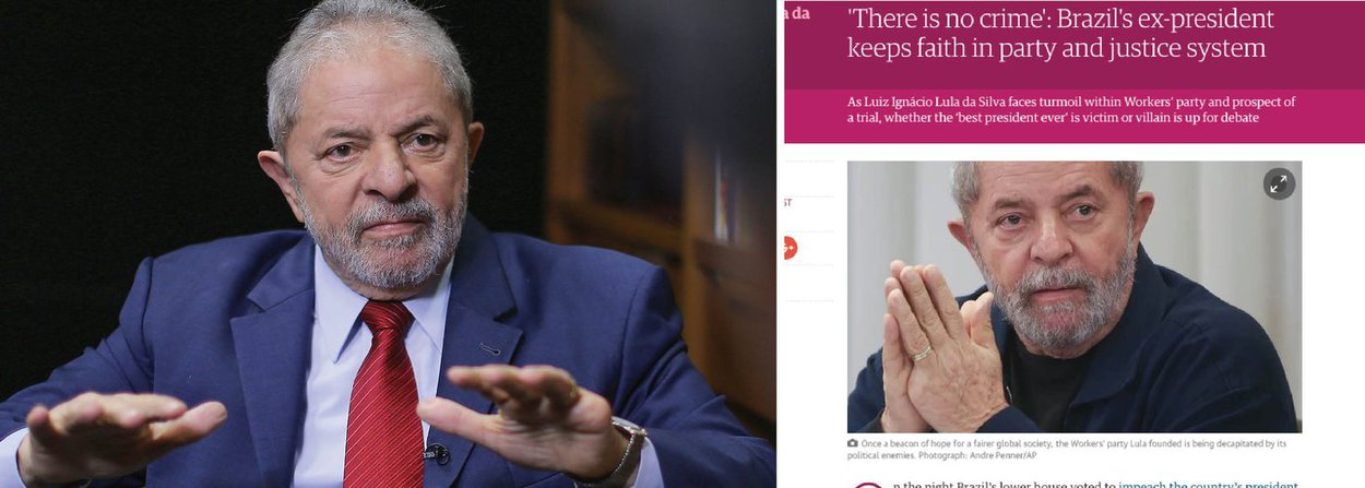 """Em entrevista ao The Guardian, jornal mais respeitado da Inglaterra, o ex-presidente Luiz Inácio Lula da Silva voltou a dizer que não teme a Lava Jato e mandou um recado aos que o investigam; """"As conquistas dos últimos 13 anos não serão perdidas com o fato de eu ser processado ou não"""", disse ele; """"Não pretendo mudar o que eu sou. E eu fui o melhor presidente da história do Brasil""""; segundo Lula, a força-tarefa comandada pelo juiz Sergio Moro já tem um objetivo traçado: condená-lo e não permitir que ele volte a concorrer à presidência em 2018; apesar disso, ele ainda não se anunciou candidato; """"Seria muito difícil repetir a minha performance e eu teria que competir comigo mesmo"""""""